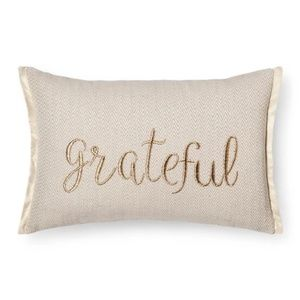 Gold Throw Pillow Grateful Oblong - Threshold